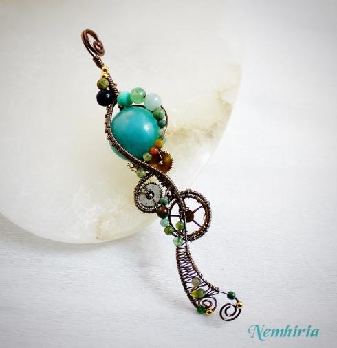 """Colgante """"Steampunk Medusa"""" por Bárbara G. Rivero"""